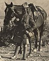 Soldier with horse detail, from- 5th Royal Gurkha Rifles Northwest Frontier, India in 1923 (cropped).JPG