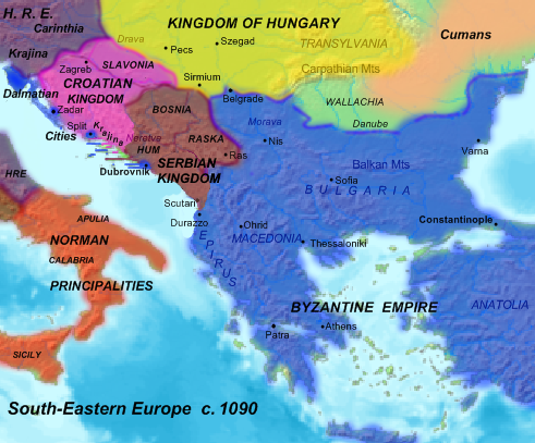 South-Eastern Europe, ca. 1090, by User-Hxseek