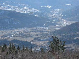 South Fork, Colorado - South Fork as seen from the summit of Agua Ramon Mountain