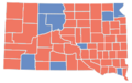 South Dakota Gubernatorial Election Results by County 2010.png