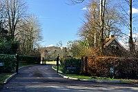 South Lodge and drive of Coedarhydyglyn Park - Cardiff - geograph.org.uk - 1732869.jpg