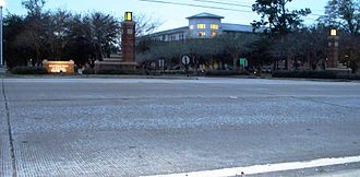 St. Tammany Parish, Louisiana - Saint Tammany Hall (background) is the first building students pass on going through the main entrance to Southeastern Louisiana University in Hammond, Louisiana.