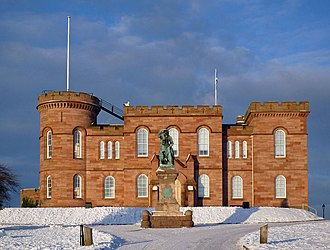 Inverness Castle - Image: Southern elevation of Inverness Castle geograph.org.uk 1638216