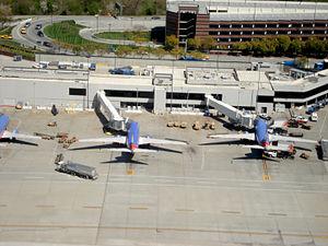 Santa Clara County, California - Southwest Airlines aircraft parked at Norman Y. Mineta San José International Airport