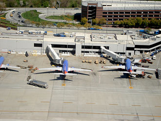 Santa Clara County, California - Southwest Airlines aircraft parked at Norman Y. Mineta San José International Airport
