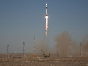 Gagarin's Start - Image: Soyuz TMA 16 Lifts Off