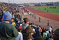 Spectators watching Brazil national football team train at Dobsonville Stadium 2010-06-03 3.jpg