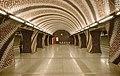 Spiral patterned mosaic at the Szent Gellért tér metro station (14-05-06).jpg