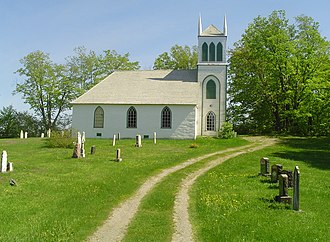English-speaking Quebecers - Christ Church of Springbrook Anglican Church in Frampton, Quebec