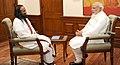 Sri Sri Ravi Shankar calls on the Prime Minister, Shri Narendra Modi, in New Delhi on December 29, 2015 (1).jpg