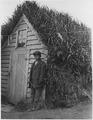 St. Paul Island, Alaska. Native barabara and Aleut boy. (Alaska Investigations-1914) - NARA - 297087.tif