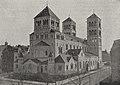 St. Paulus-Kirche in Düsseldorf, erbaut von Prof. Kleesattele. Foto Josef Henne, Düsseldorf, 1913.jpg