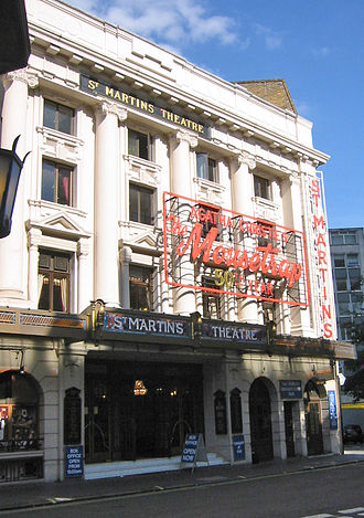 West End theatre - The St Martin's Theatre, home to The Mousetrap, the longest-running play in the world.