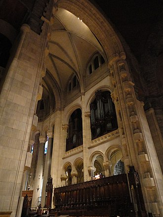 Heins & LaFarge - Interior view of the Cathedral of St. John the Divine, New York