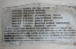 63rd (West Suffolk) Regiment of Foot - Memorial to the men of the 63rd Regiment, St. Mary's Church, Fort St. George, Madras, India