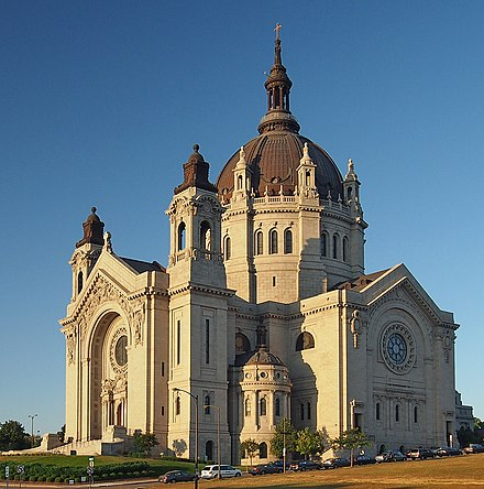The French Renaissance style Cathedral of St. Paul in the city of St. Paul St Paul Cathedral 2012.jpg