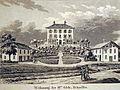 Stadtmuseum Rapperswil - Fabrikantenvilla Grünfels in Jona, Ansicht von Norden, Aquatinta von David Alois Schmid und Franz Hegi, um 1833. ZB Zürich, Graphische Sammlung 2013-04-06 15-25-30 (P7700).JPG