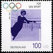 Stamp Germany 1996 Briefmarke Sport Annie Hübler-Horn