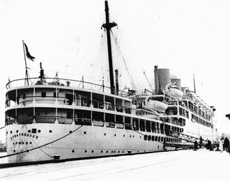 RMS Strathnaver - Stern view of RMS Strathnaver
