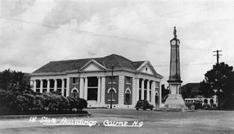 Cairns - Cairns War Memorial, circa 1936