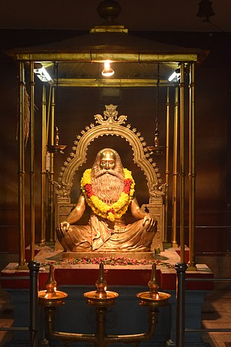 Chattampi Swamikal - Statue of chattampi swamikal at attukal temple