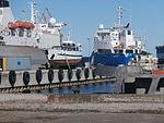 Stefani ashore in Lahesuu sadam Tallinn 2 April 2016.JPG