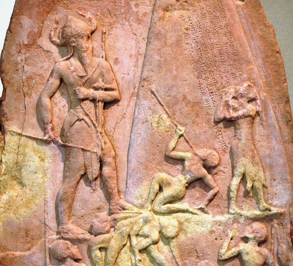 نقش برجستهای مربوط به پیروزی نارامسین بر لولوبیان.