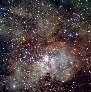 NGC 3603 open cluster in the constellation Carina