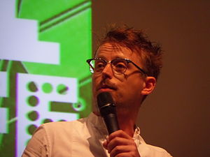 Steve Cross (comedian) - Cross at Wikimania 2014