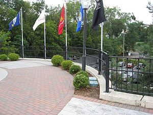 Stillwater, Minnesota - Across the street from the Courthouse, the Veterans' Memorial for local veterans