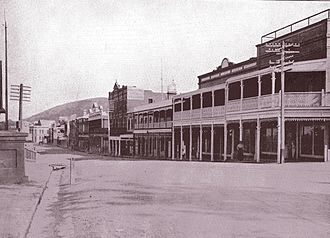 """Stirling Terrace, Albany - Stirling Terrace looking west in 1912, from """"Alluring Albany"""""""