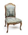 Stol, del av möbeluppsats, 1700-tal - Hallwylska museet - 109812.tif