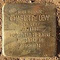 Stolperstein Albertinenstr 31 (Zehld) Charlotte Levy.jpg