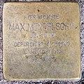 Stolperstein Damaschkestr 28 (Charl) Max Mendelsohn.jpg