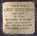 Stolperstein Kantstr 149 (Charl) Käthe Wrzeszinski.jpg