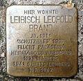 Stolperstein Karlsruhe Leibisch Leopold Brand Kriegsstr 76 (fcm).jpg