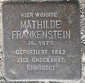 Stolperstein Lüdinghausen Olfener Straße 10 Mathilde Frankenstein.jpg
