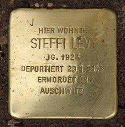 Photo of Steffi Levy brass plaque