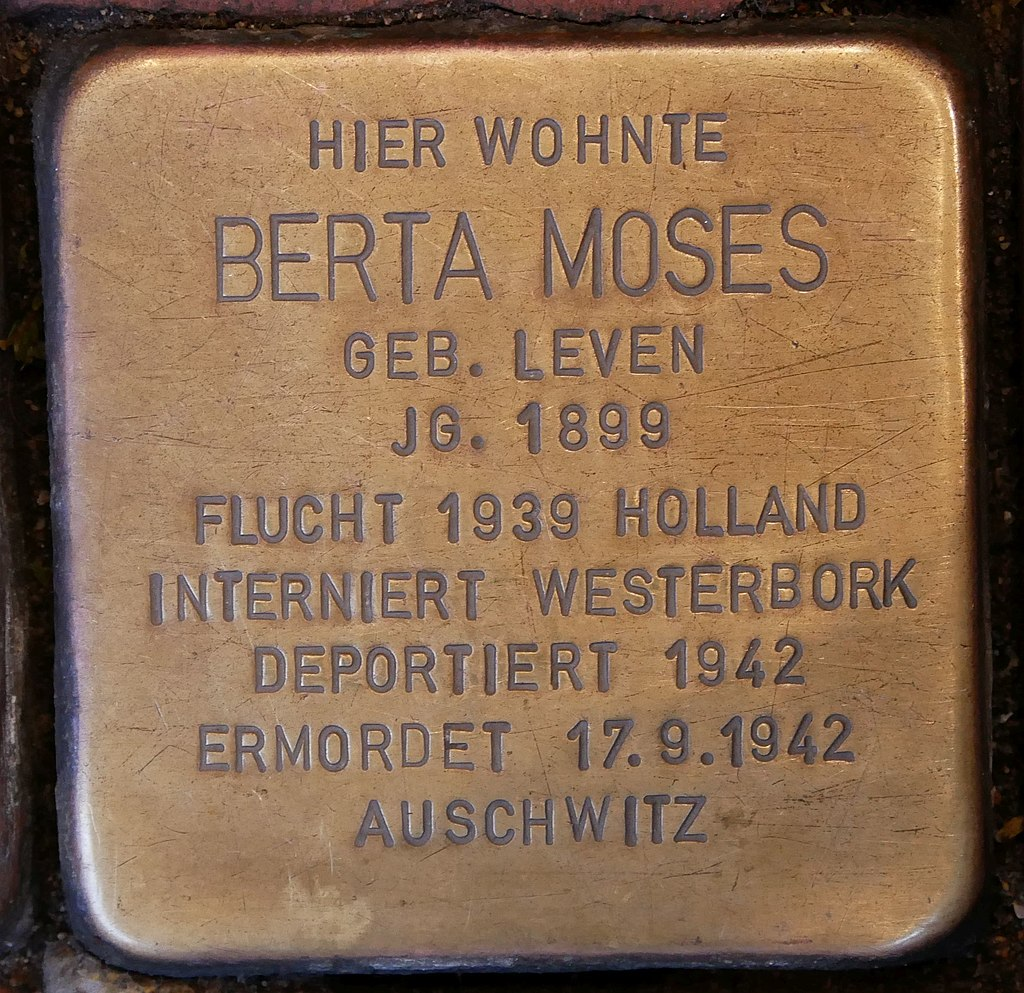 Stolperstein Neustr 35 Dinslaken Moses Berta