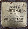 Stolperstein Pariser Str 49 (Wilmd) Nathan Klein.jpg