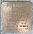 Stolperstein Rathausmarkt 1 (Theodor Haubach) in Hamburg-Altstadt.JPG