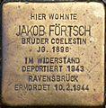 Stolperstein Salzburg, Jakob Förtsch (Stiftshof St. Peter).jpg