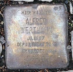 Photo of Alfred Werthahn brass plaque