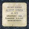 Stolpersteine Albert Bonem Mondorf-les-Bains, 42 rue du Moulin 01.jpg