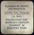 Stolpersteine Köln, Aron Salzmann (Blaubach 80).jpg