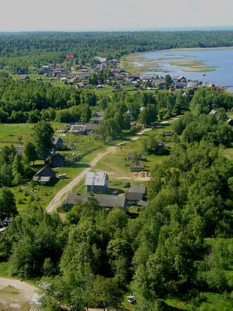 Volkhovsky District - Panorama of the village of Storozhno on the shore of Lake Ladoga