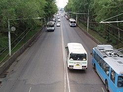 Фото с ж/д моста на улицу Худайбердина