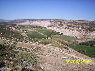 "Strawberry, Utah - Looking west on the old ""Riverside"""