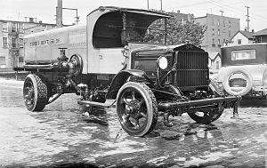 Sterling Trucks - A street-cleaning truck in Seattle by the original Sterling company