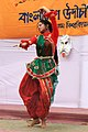 Student perform on Pohela Falgun celebration at Muktamancha in University of Chittagong (01).jpg